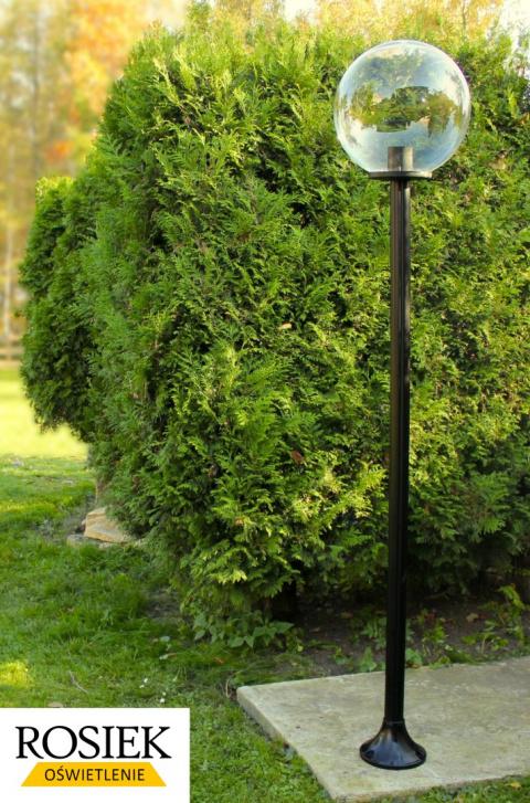 lampy ogrodowe kule stojące